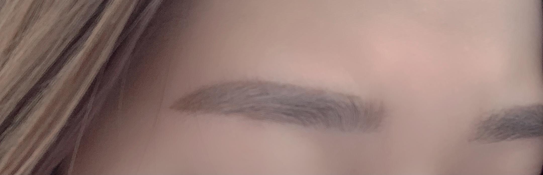 1回目眉サロン後の眉毛